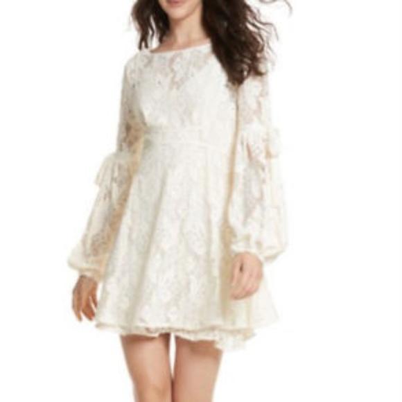 90b7d76e4454b FREE PEOPLE Dress Ruby Crochet Lace Mini Ivory Cream Size XSmall Medium  Large Dresses